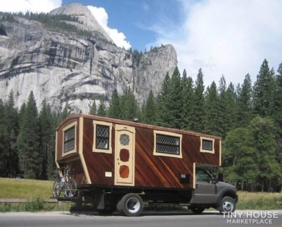 One-of-a-kind Flatbed Truck Tiny Camper via MtnMurph FOR SALE 001