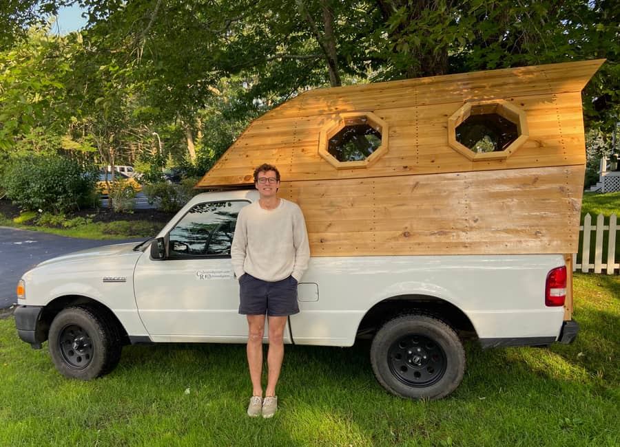 Painter Builds Truck Bed Beehive Mobile Studio & Home 23