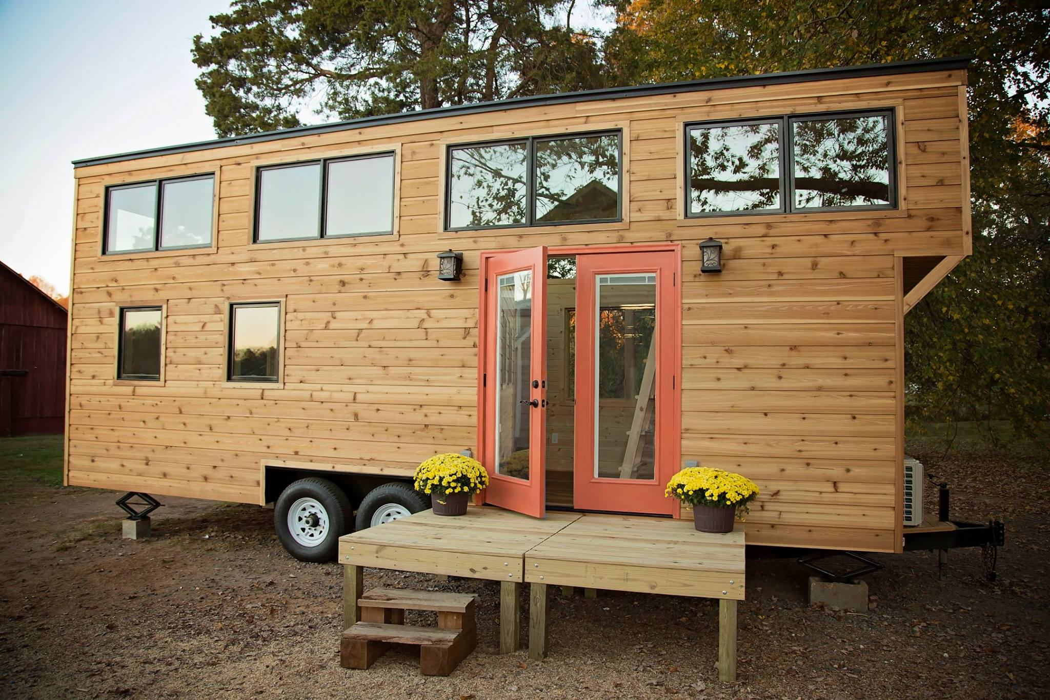 The Peponi Rustic Cedar Tiny House On Wheels