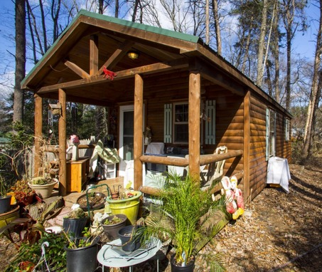 Pine One Room Tiny Cabin For Sale, Maryland