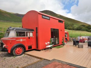 Red Rescue Retreat Tiny Bus Cottage 001