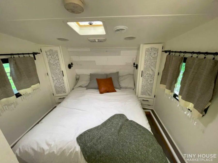 Renovated 5th Wheel RV Turned Tiny Cottage On Wheels For Sale via Rebecca Kozlansky Tiny House Marketplace 007