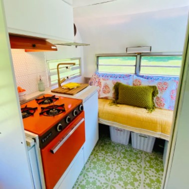 Roost12 Vintage Travel Trailer Remodel by Perch And Nest For Sale 003