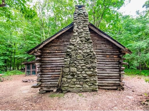 Rustic Log Cabin on 7.25 Acres in Hartland CT For Sale