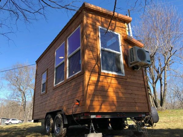 Rustic Western Tiny House on Wheels by Heartland Tiny Homes For Sale 007
