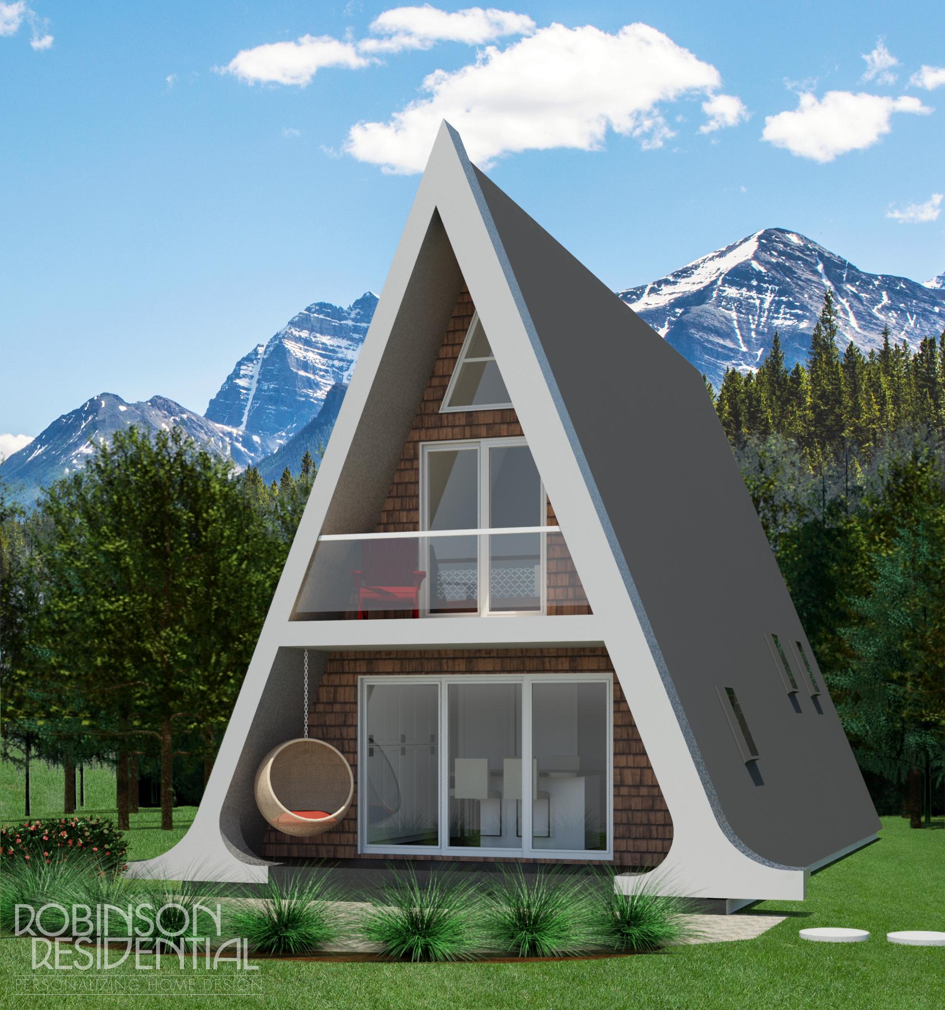 Tiny Home Designs: Alberta A-Frame Small Home Design