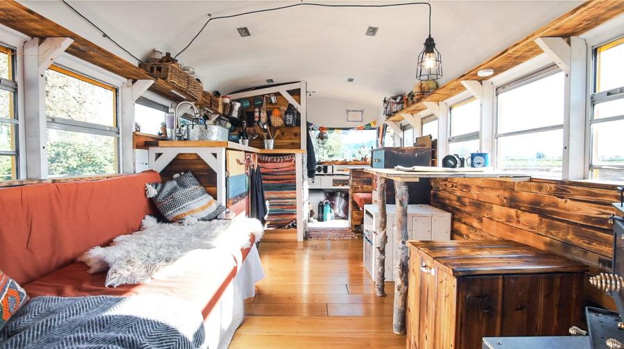 School Bus Conversion into Tiny House 3