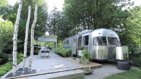 Renovated Airstream with Outdoor Living Space