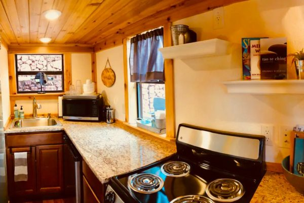 Sedona AZ Tiny House Vacation with Deck Hot Tub Solar Power and More 002