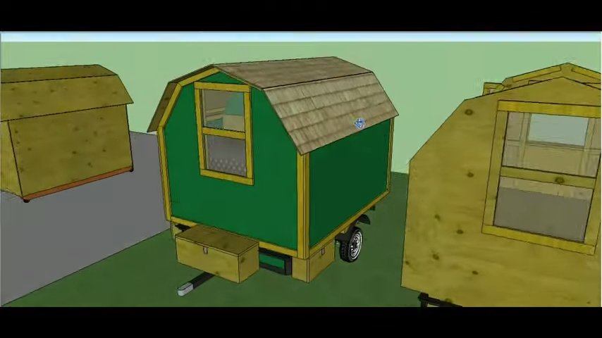 Shepherd Hut Tiny House on Wheels Plans via Lamar Alexander 004