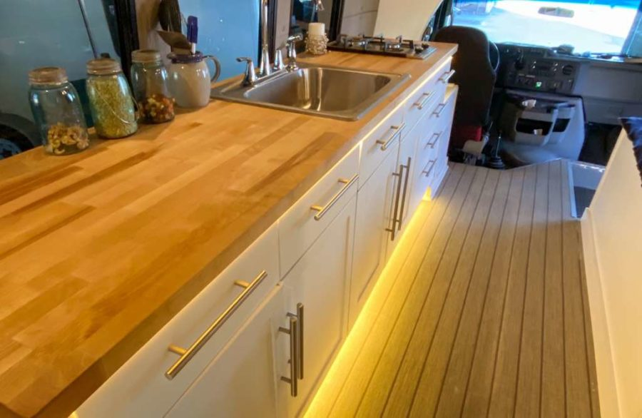 Shuttle Bus To Overland Camper Conversion For Sale via Conversion Trader 003