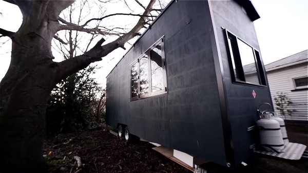 Student Builds 215 Sq. Ft. Tiny House with Earthquake Salvaged Materials
