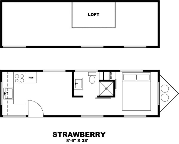 Very Cheeky Tiny House Floor Plan - The Strawberry