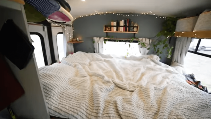 Surfers' DIY Bus with Reclaimed Materials