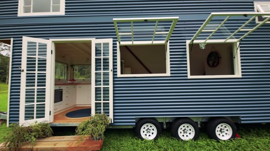 TINY HOUSE with incredible pop up roof that EXPANDS UPWARD once parked 002
