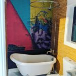 Texas Cottage Graffiti Art Clawfoot Bath Tub via Plum Construction 001