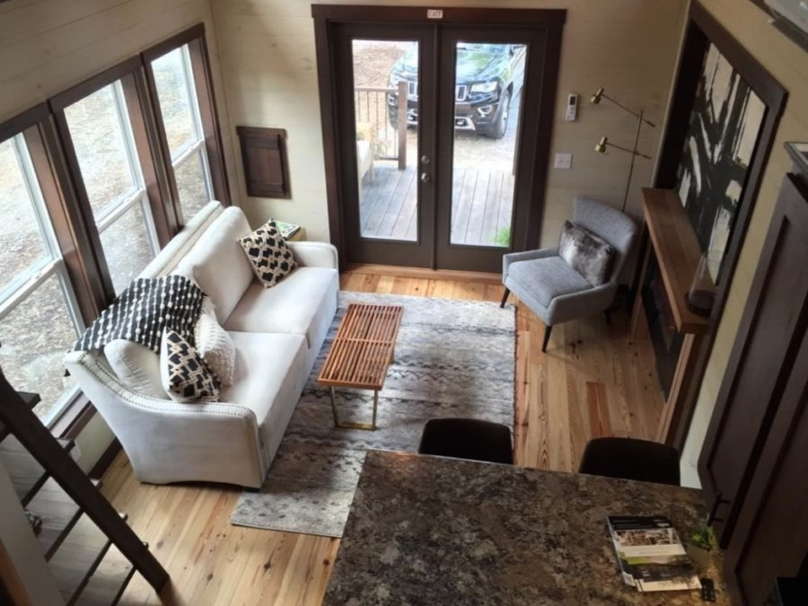 The Alexander 399-sq-ft Tiny House by Lakeside Park Models at Lakewalk Tiny House Community in Greer SC 002