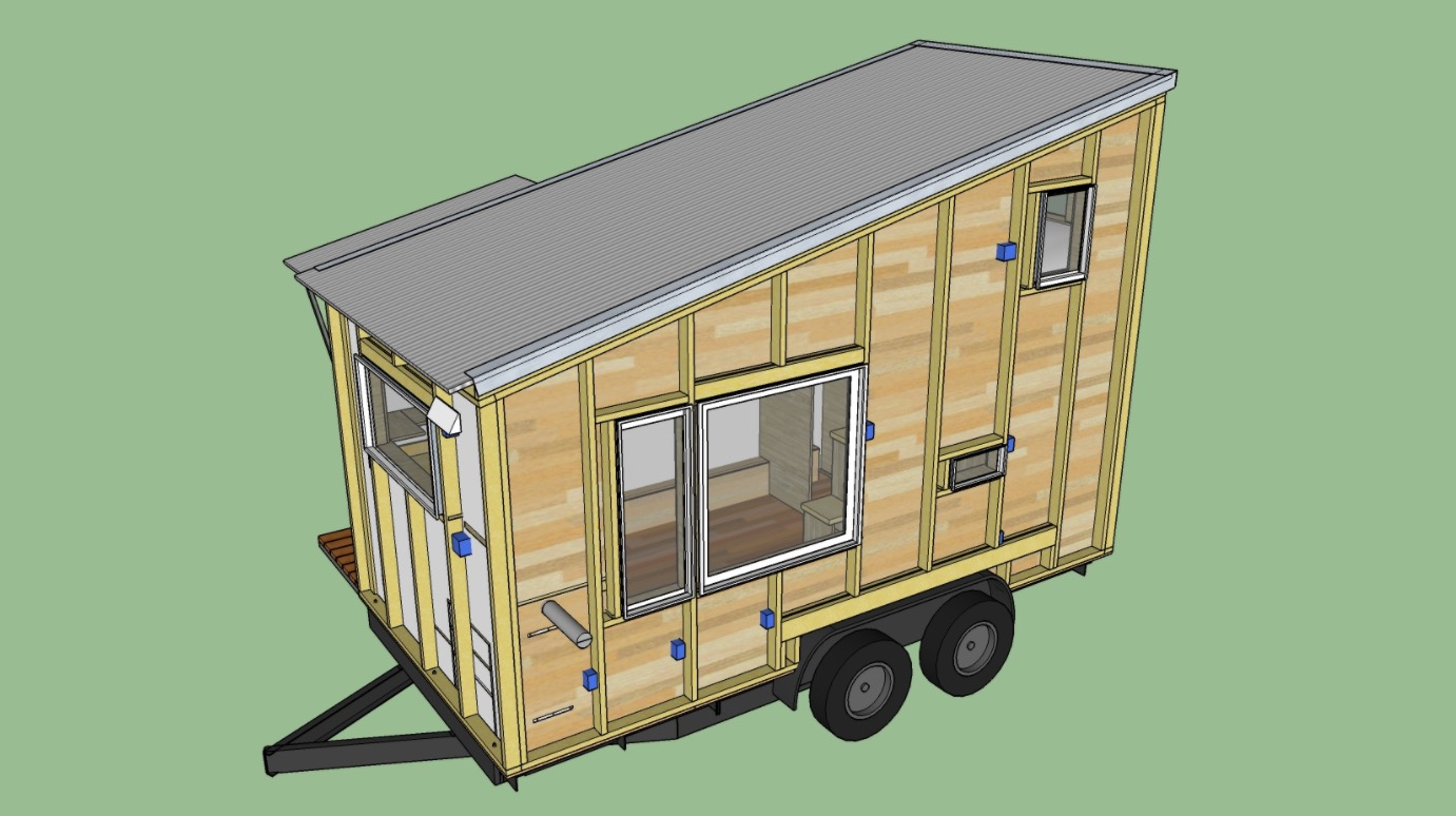 Boulder 16 Ft Tiny House Plans By Rocky Mountain Tiny Houses