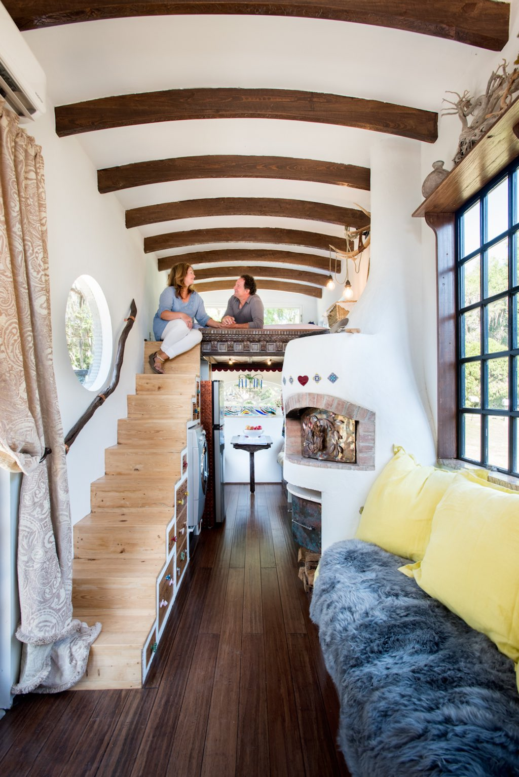 Incredible Tiny House Built for only $15k - Even Has Pizza Oven!