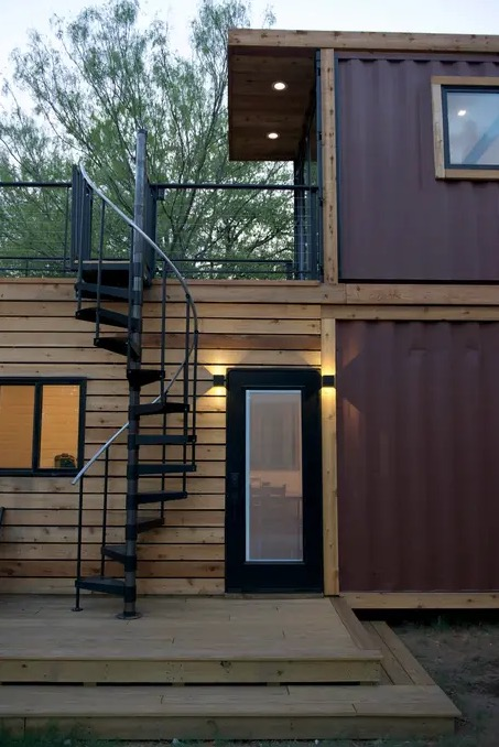 The Helm CargoHome Shipping Container Tiny House Vacation in Waco Texas