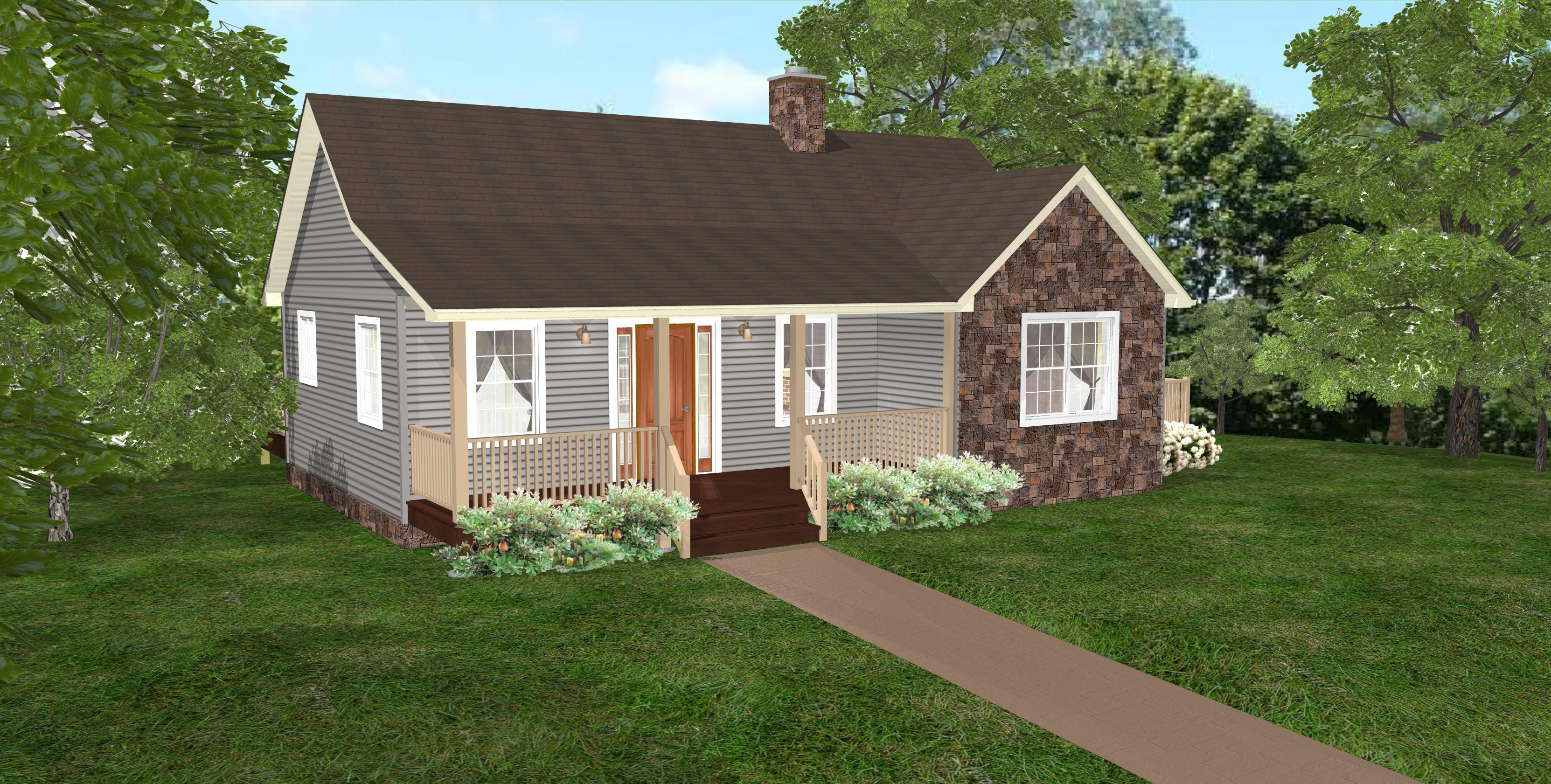 798 Sq Ft Wheelchair Accessible Small House Plans