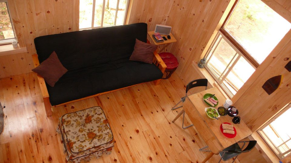 The Little Red Cabin by Forest Trek Woodwork in Canada