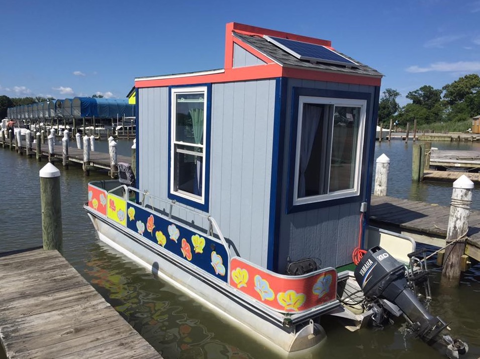 The Otter House: A Tiny House Boat in Virginia