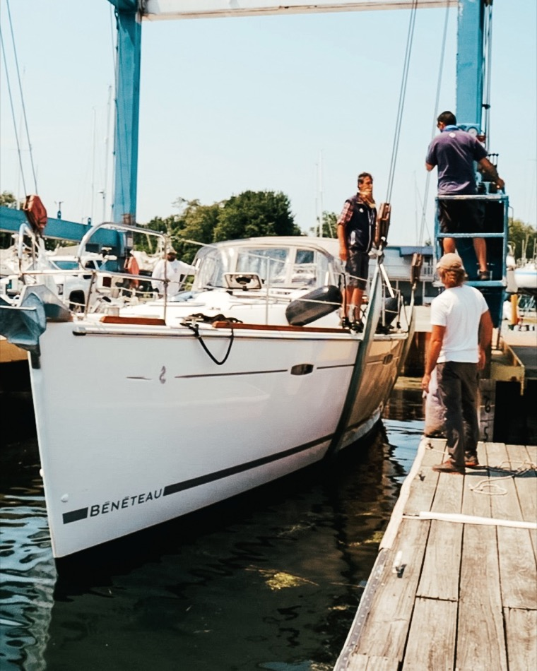 They Bought A Salvaged Sailboat Expedition Evans 005