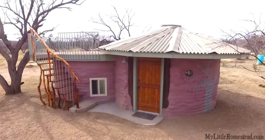 They Built Their Kids Their Own Earthbag Tiny HomesBedrooms 011