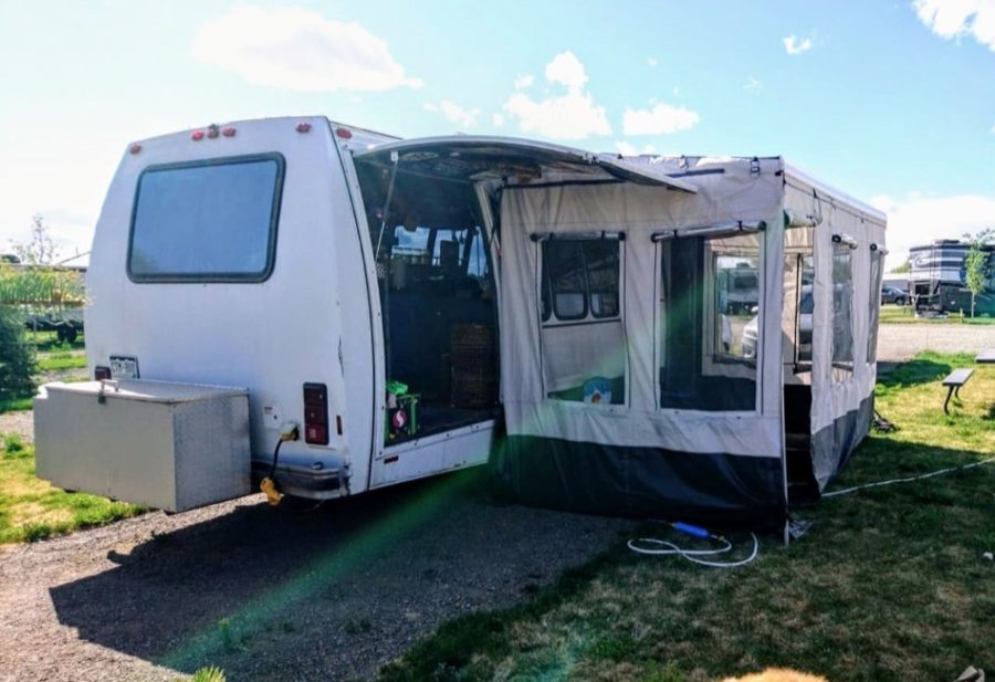They Turned This Shuttle Bus Into A Tiny House FOR SALE via Van Life Trader 009
