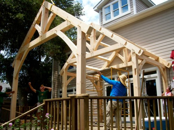 Timber Frames for Tiny Homes in Fleetwood, NC