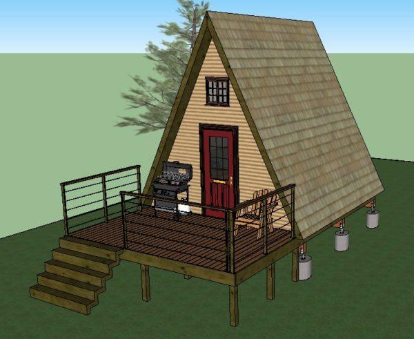 14 X14 Tiny A Frame Cabin Plans By Lamar Alexander