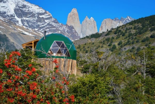 Tiny Dome Cabins in Patagonia... Gorgeous Scenery