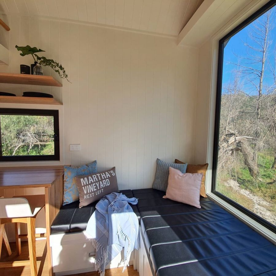 Tiny House With Huge Window via Designer Eco Tiny Homes Instagram 005