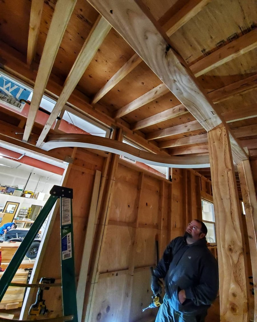Tiny House with Curved Loft Beams by Backcountry Tiny Homes 003