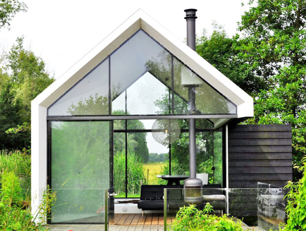 215 Sq Ft Tiny Glass Cabin