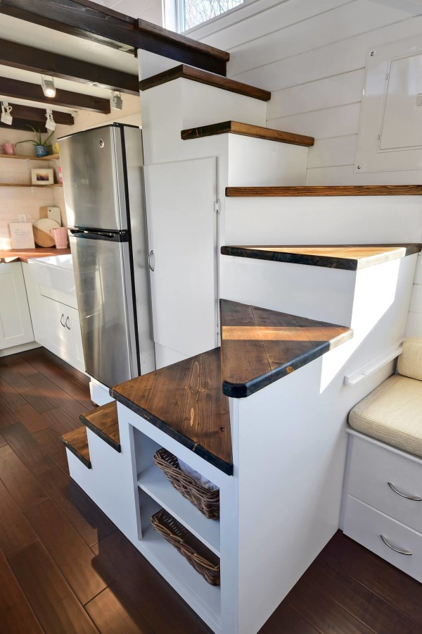 Tiny Living Homes Custom THOW with Double Vanity Sink and Full Kitchen
