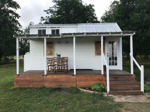 200 Sq. Ft. Tiny Texas Farmhouse with Front Porch and Detached Office