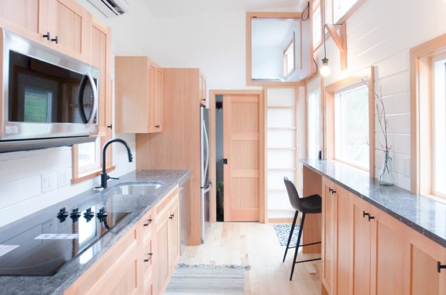 Tiny house with ground floor bedroom plus two lofts by Rewild Homes