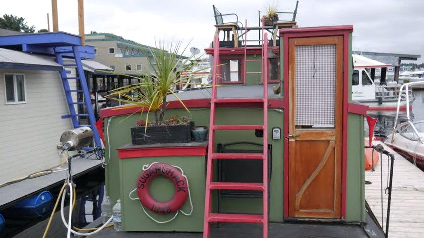 Trash Barge Turned to Floating Tiny Home via relaxshacksdotcom 001
