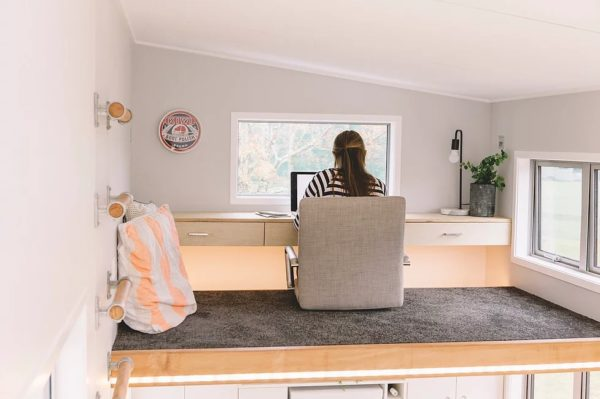 Unique Tiny House with Floating Loft Desk The Millennial by Build Tiny NZ 003