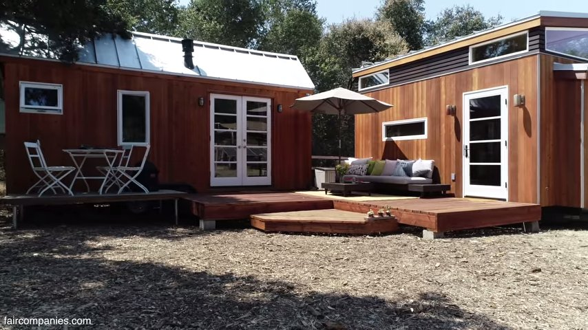 Vinas Tiny House and Home Office Joined by Deck 001