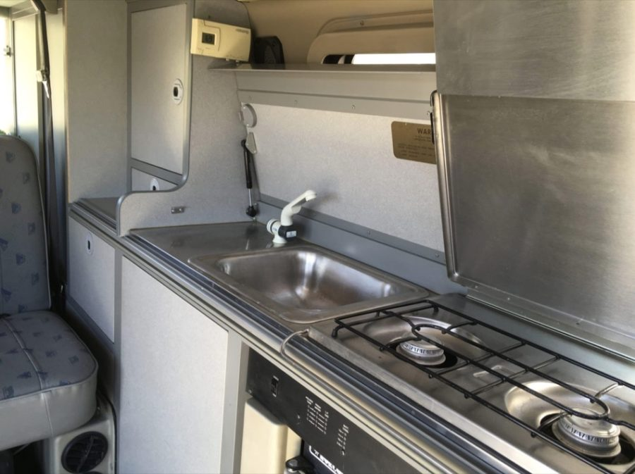 Volkswagen EuroVan Camper Conversion by Winnebago Sleeps Four Fits in Garage via Van Life Trader 003