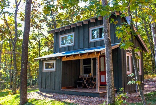 Small Home Plans: 400 Sq. Ft. Walden Tiny House By Hobbitat Spaces