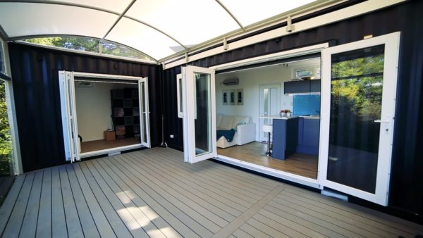 Womans Solar 484 Sq Ft Shipping Container Home 009