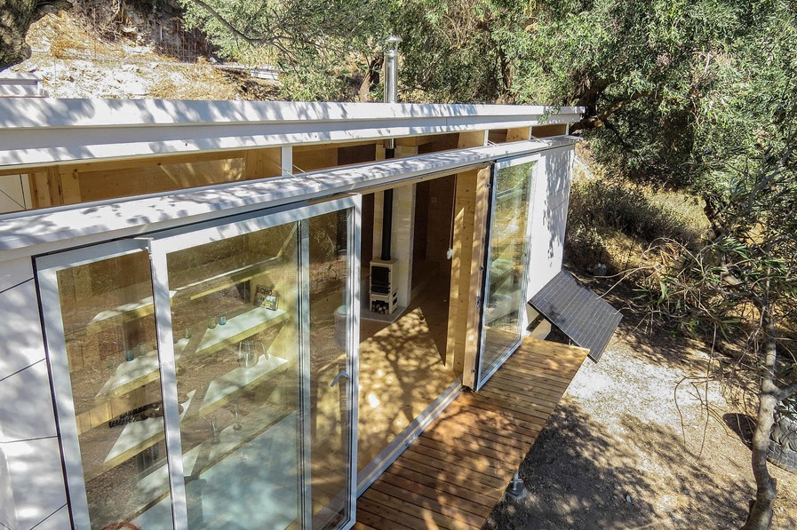 Yoga Teachers Modern Off-Grid Crete THOW in Greece by Echo Living 0010