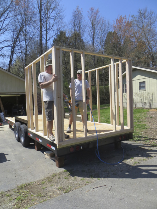 Framing Walls for Tiny House Construction Project