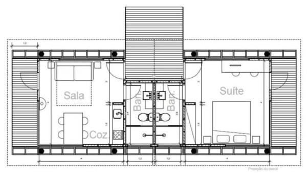 casa em guararema floor plan
