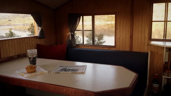 Dinette in the Turtle Camper