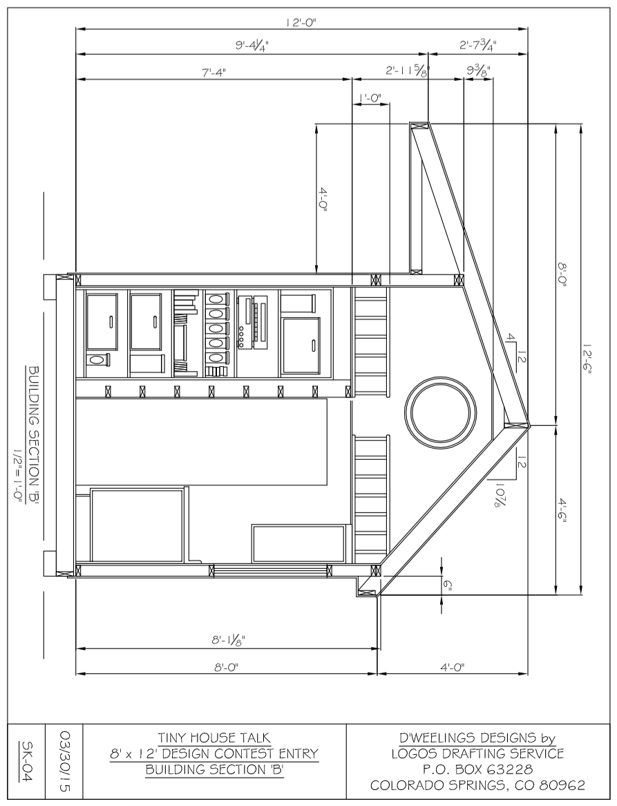 Tiny Home Plans Designs: Charles Strong's 8x12 Tiny House Design